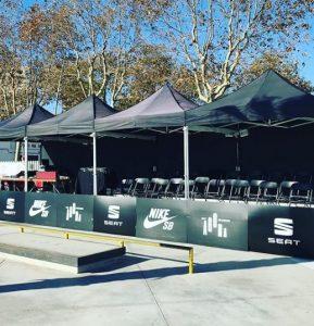 carpa plegable Top Tent evento deportivo