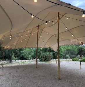interior carpa beduina boda Top Tent