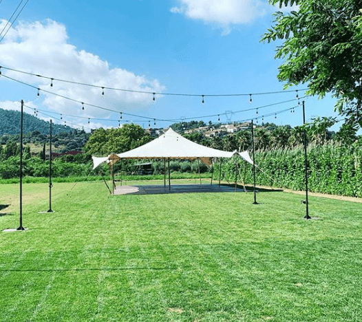 montaje top tent beduina carpa complementos