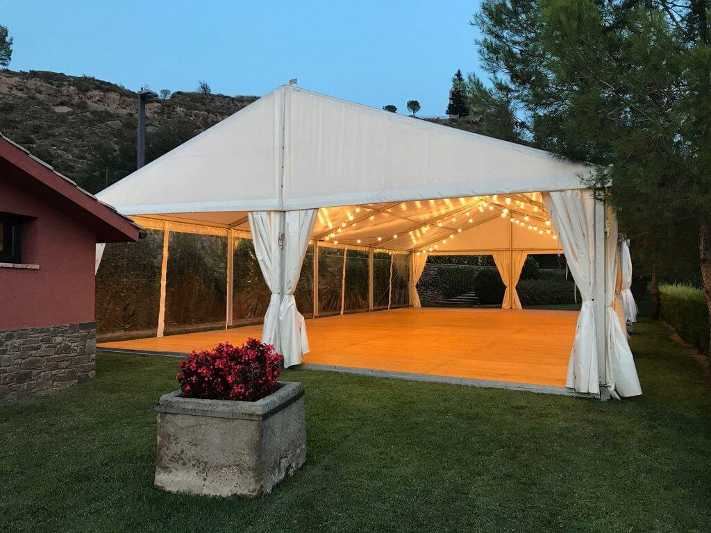 tarimas Pabellon alquiler Top Tent