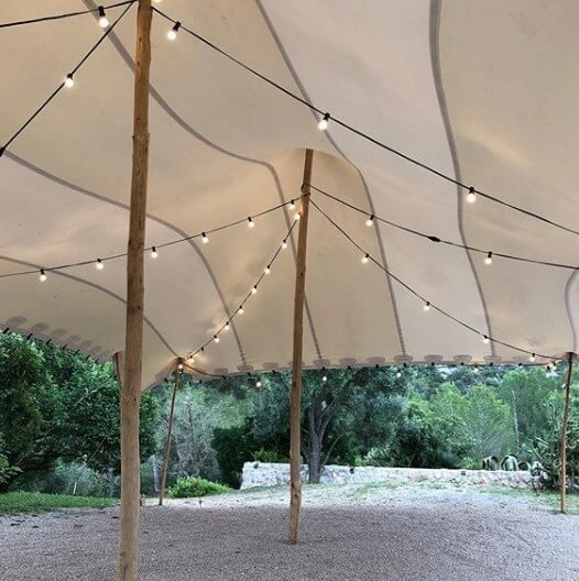 alquiler iluminación carpa beduina boda interior Top Tent