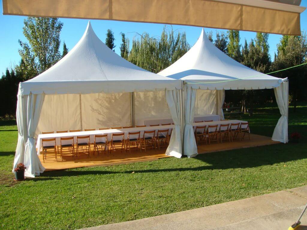 carpa pagoda alquiler top tent evento
