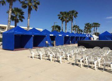 carpa plegable azul Top Tent alquiler