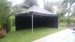 top tent alquiler carpas plegable negra