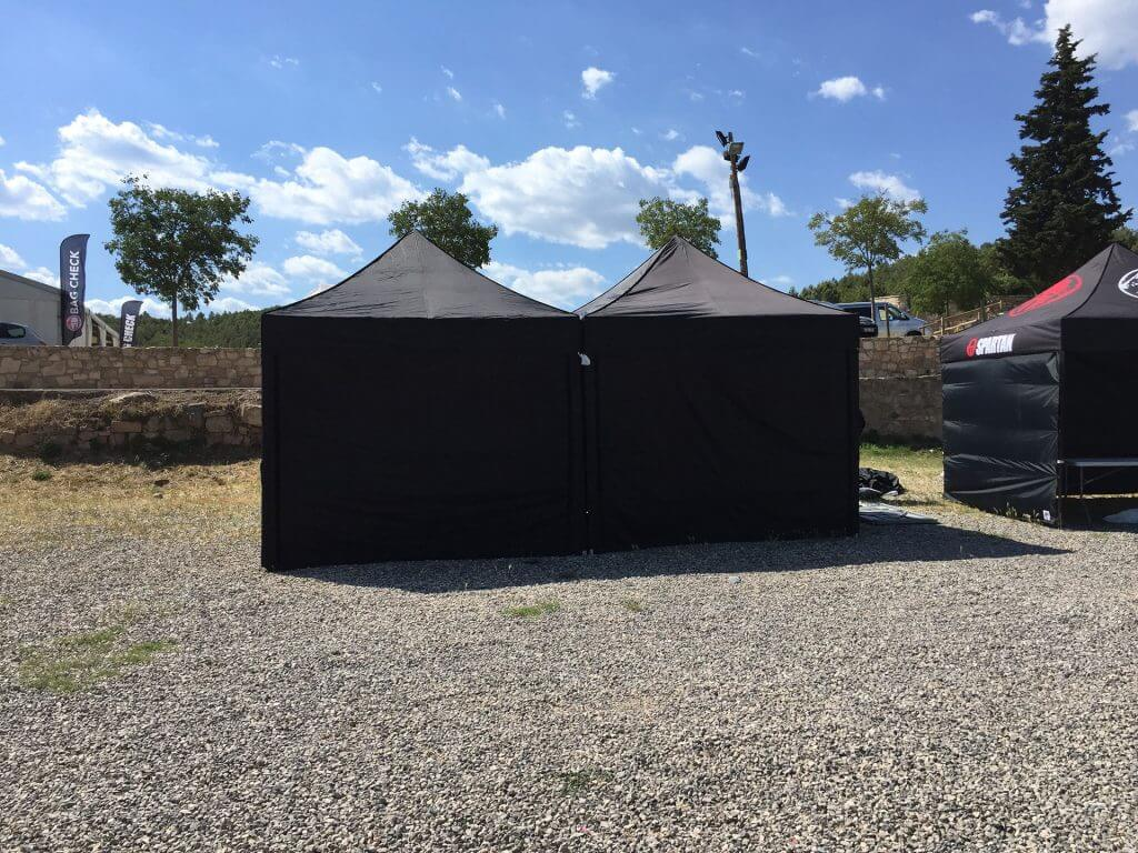 Alquiler plegable negra Top tent carpa