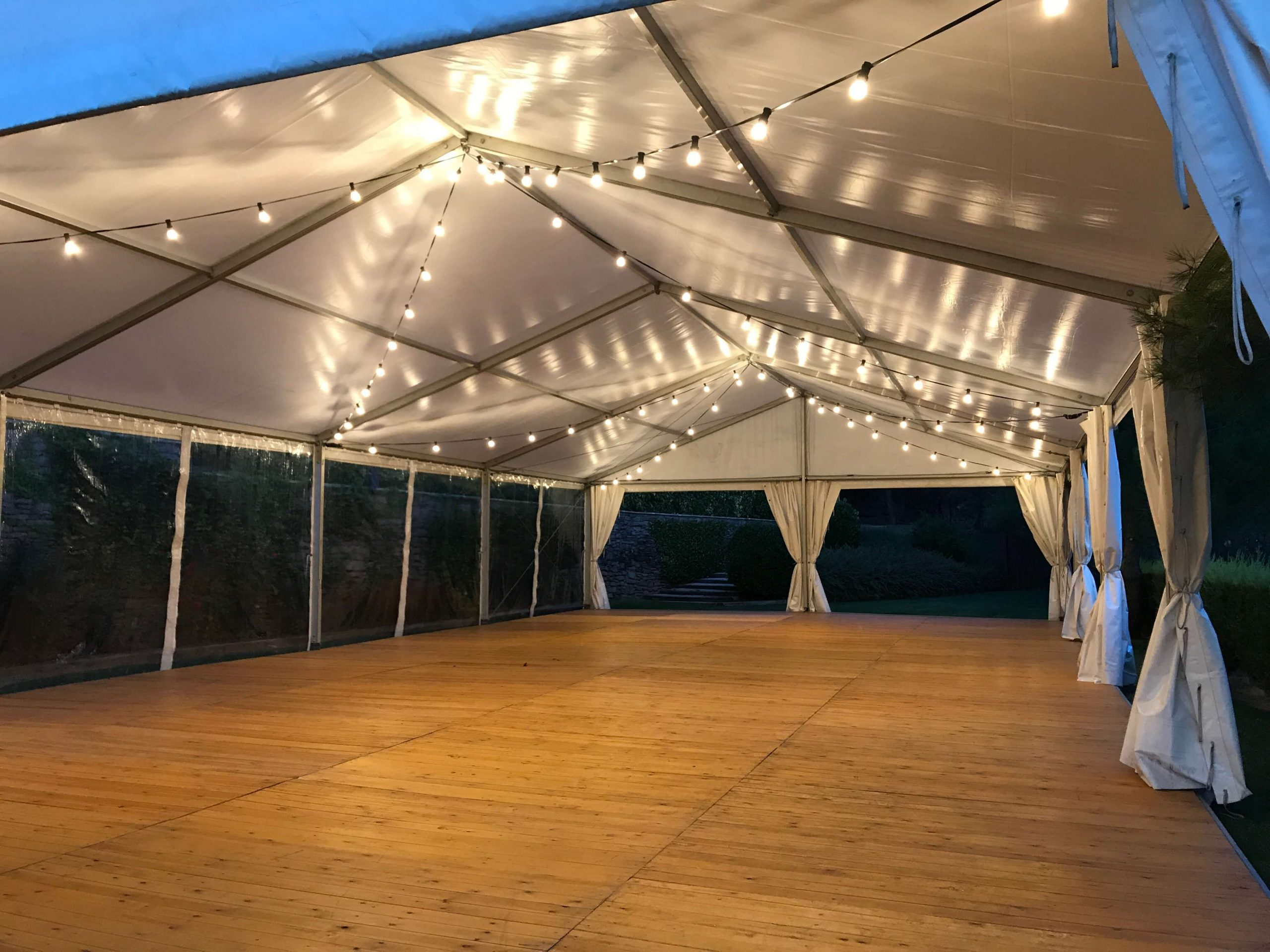 pabellón iluminación carpas Top tent